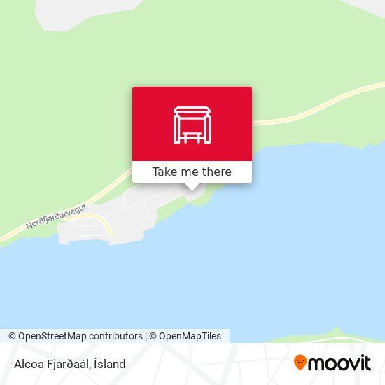 Alcoa Fjarðaál map