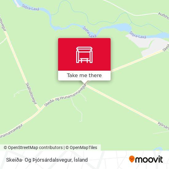 Skeiða- Og Þjórsárdalsvegur map