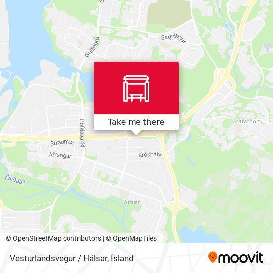 Vesturlandsvegur / Hálsar map