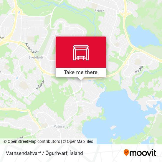 Vatnsendahvarf / Ögurhvarf map