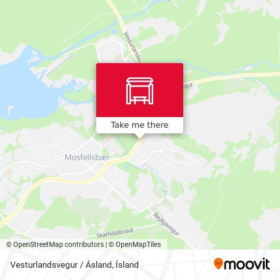 Vesturlandsvegur / Ásland map