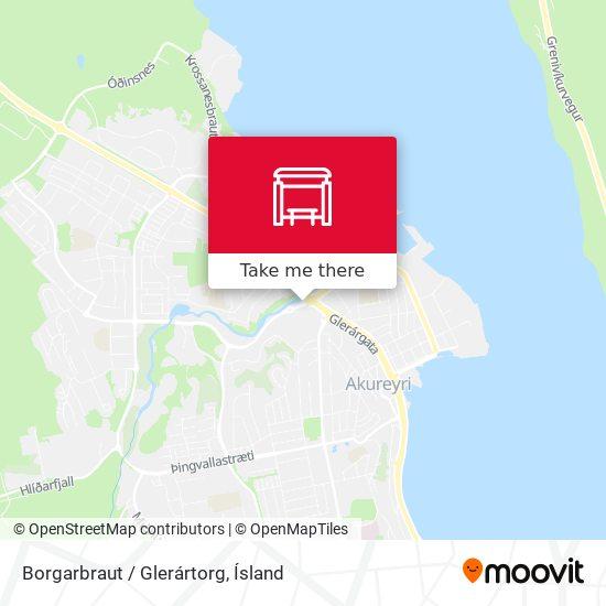 Borgarbraut / Glerártorg map