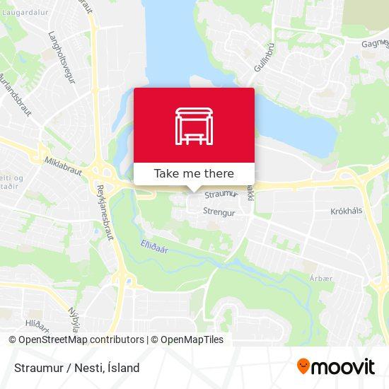 Straumur / Nesti map