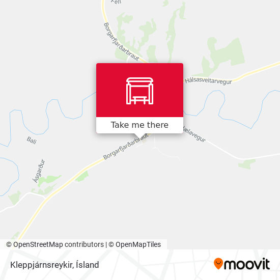 Kleppjárnsreykir map