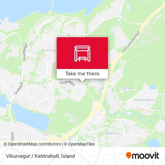 Víkurvegur / Keldnaholt map