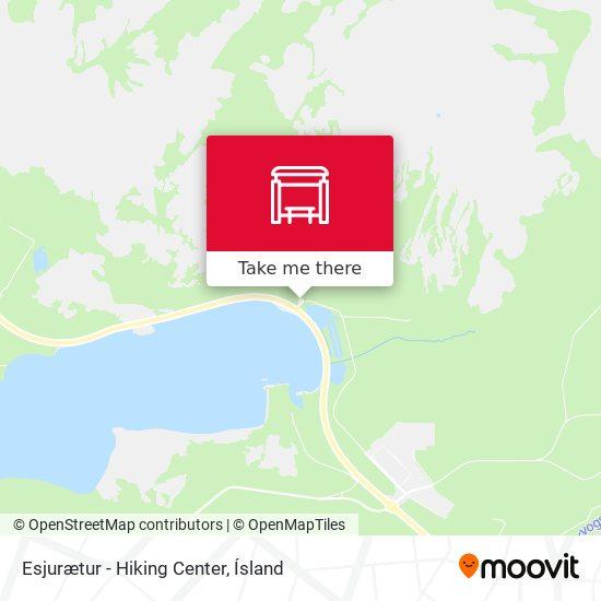 Esjurætur - Hiking Center map