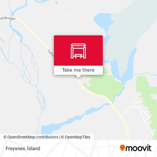 Freysnes map