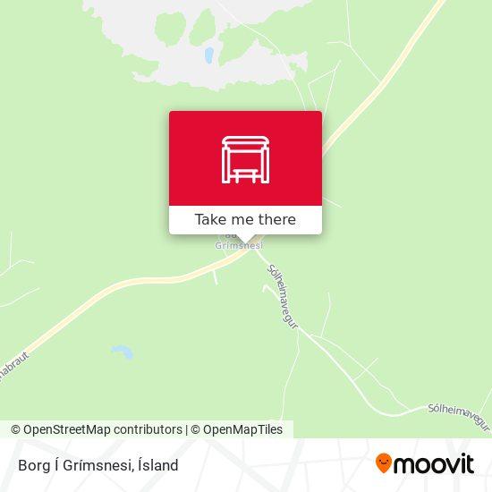 Borg Í Grímsnesi map
