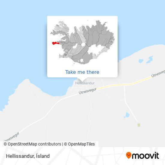 Hellissandur map