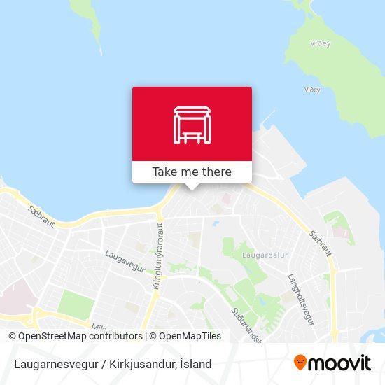 Laugarnesvegur / Kirkjusandur map