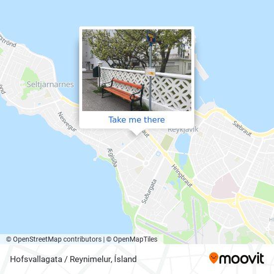 Hofsvallagata / Reynimelur map