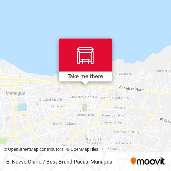 El Nuevo Diario / Best Brand Pacas map