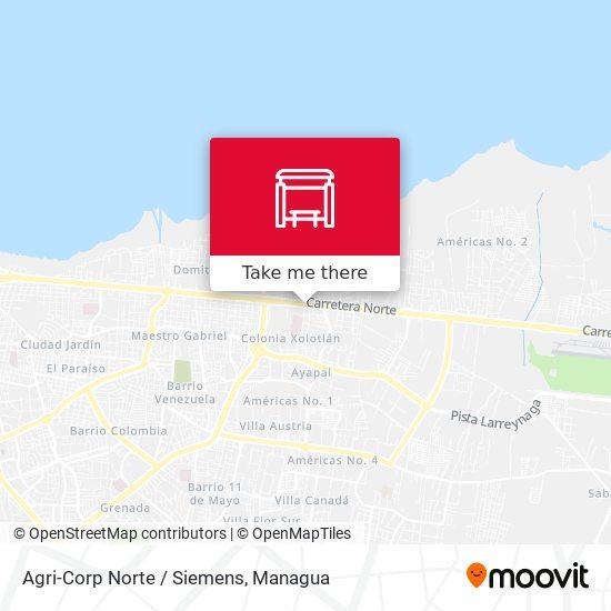 Agri-Corp Norte / Siemens map