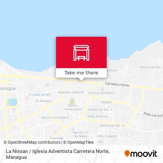 La Nissan / Iglesia Adventista Carretera Norte map