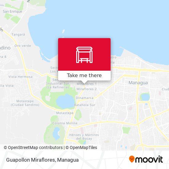 Guapollon Miraflores map
