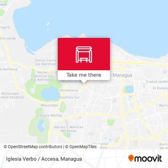 Iglesia Verbo / Accesa map