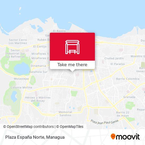 Plaza España Norte map
