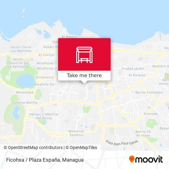Ficohsa / Plaza España map