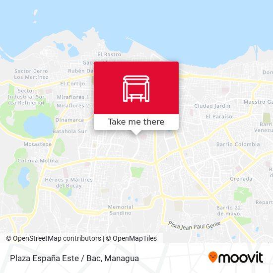 Plaza España Este / Bac map