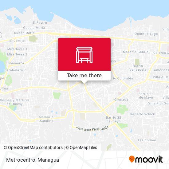 Metrocentro map