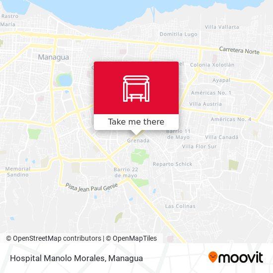 Hospital Manolo Morales map