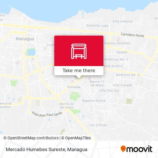 Mercado Humebes Sureste map