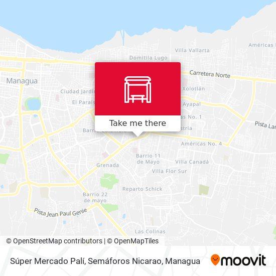 Semáforos Nicarao map