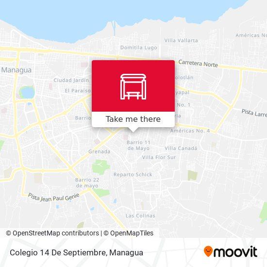 Colegio 14 De Septiembre map