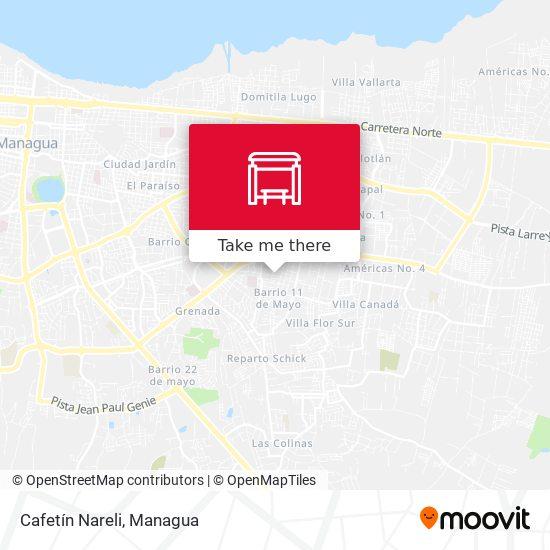 Cafetín Nareli map