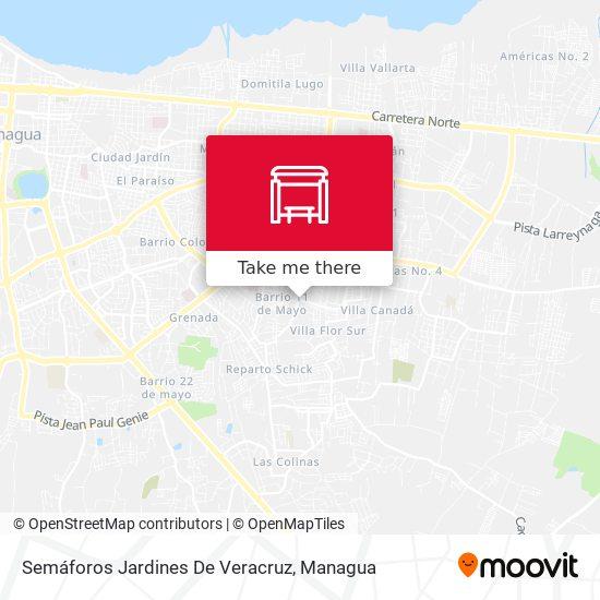Semáforos Jardines De Veracruz map