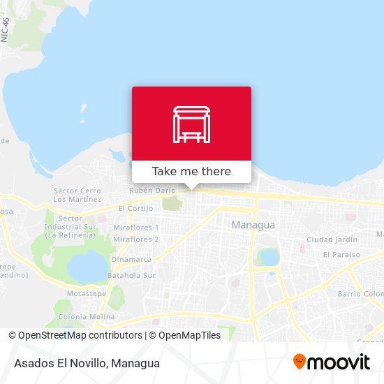 Asados El Novillo map