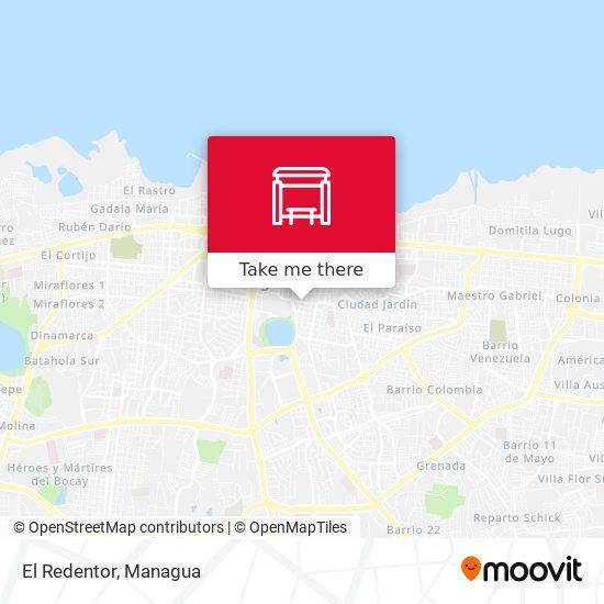 El Redentor map