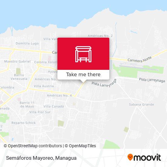 Semáforos Mayoreo map