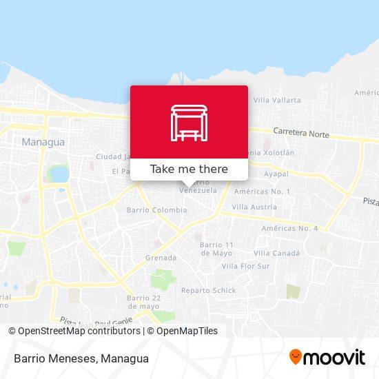 Barrio Meneses map