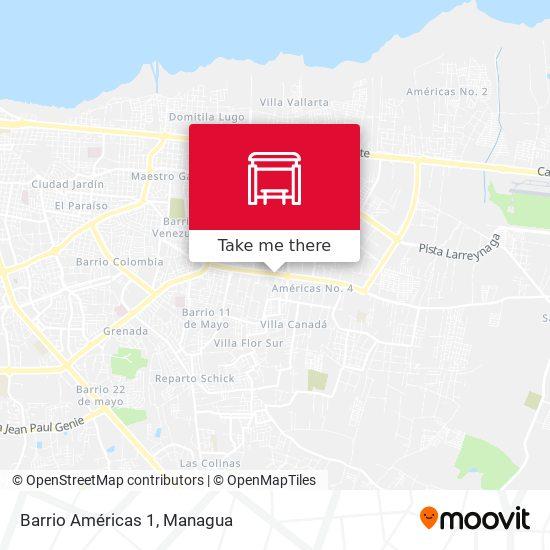 Barrio Américas 1 map
