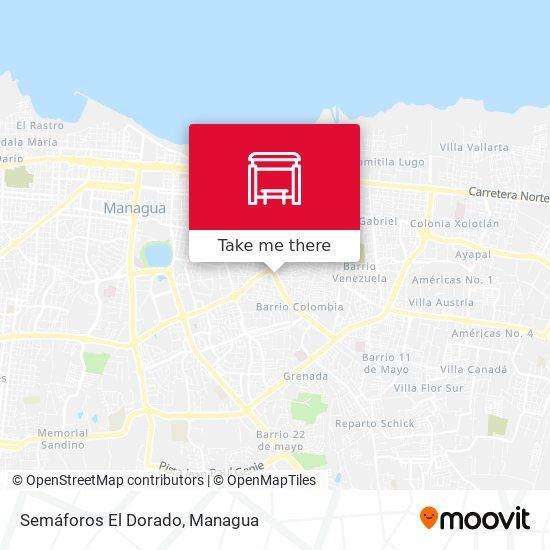 Semáforos El Dorado map