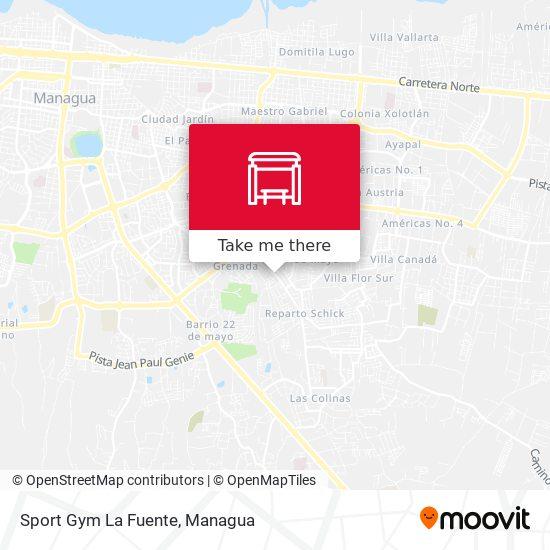 Sport Gym La Fuente map