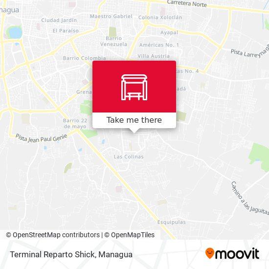Terminal Reparto Shick map