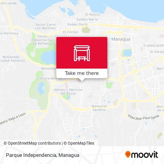 Parque Independencia map