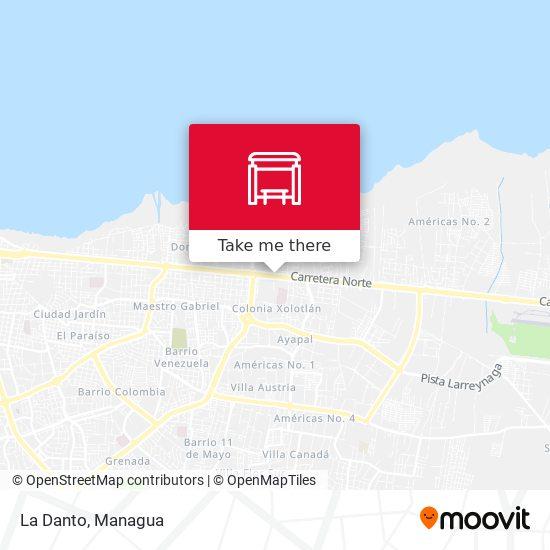 La Danto map