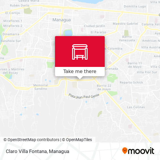 Claro Villa Fontana map