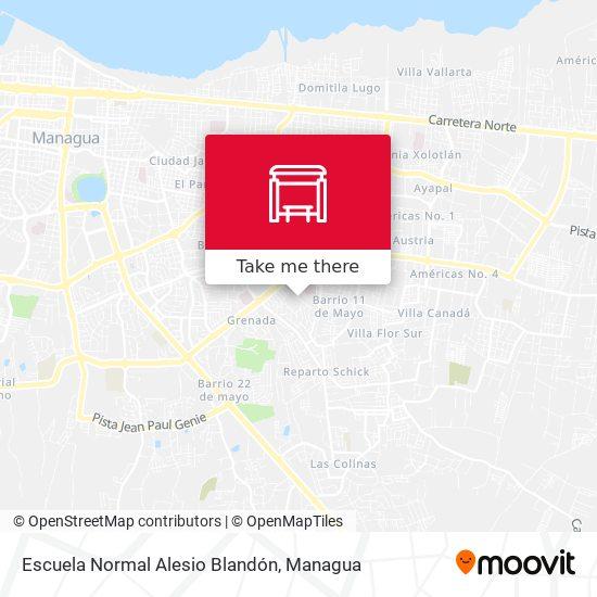 Escuela Normal Alesio Blandón map