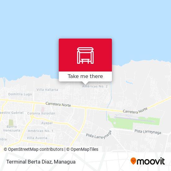 Terminal Berta Diaz map