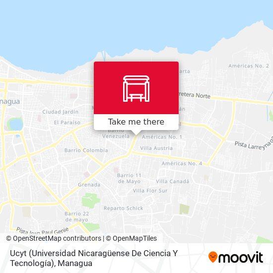 Ucyt (Universidad Nicaragüense De Ciencia Y Tecnología) map