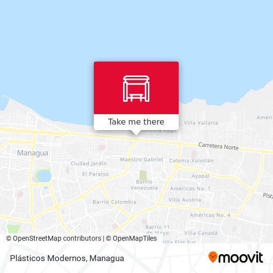 Plásticos Modernos map