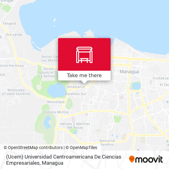 (Ucem) Universidad Centroamericana De Ciencias Empresariales map
