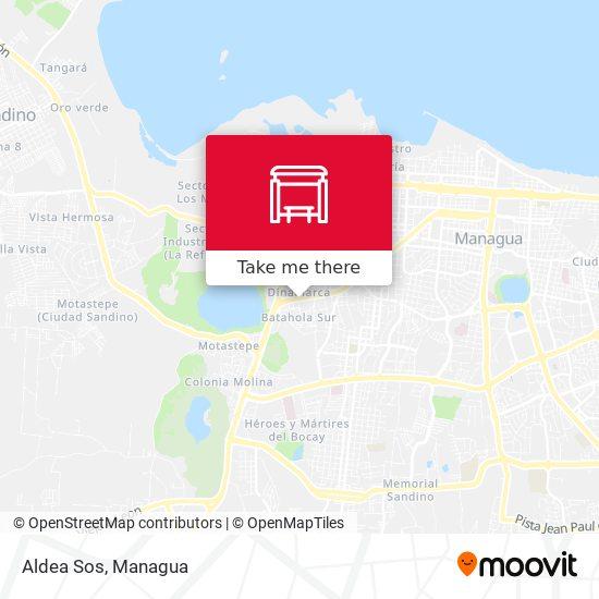 Aldea Sos map