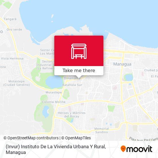 (Invur) Instituto De La Vivienda Urbana Y Rural map