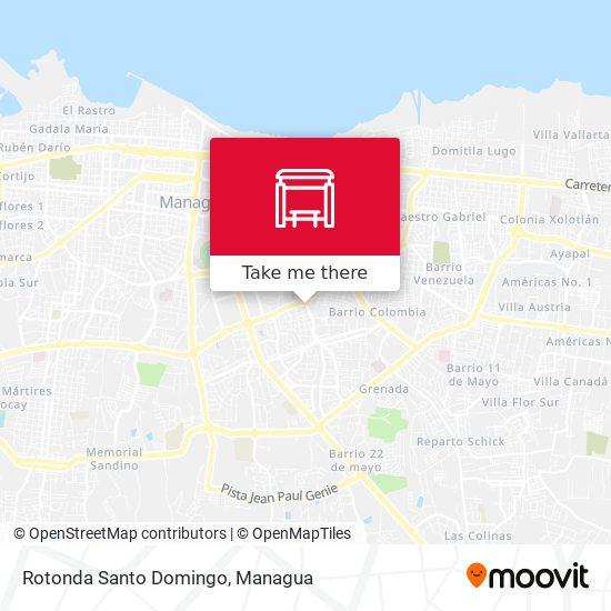 Rotonda Santo Domingo map