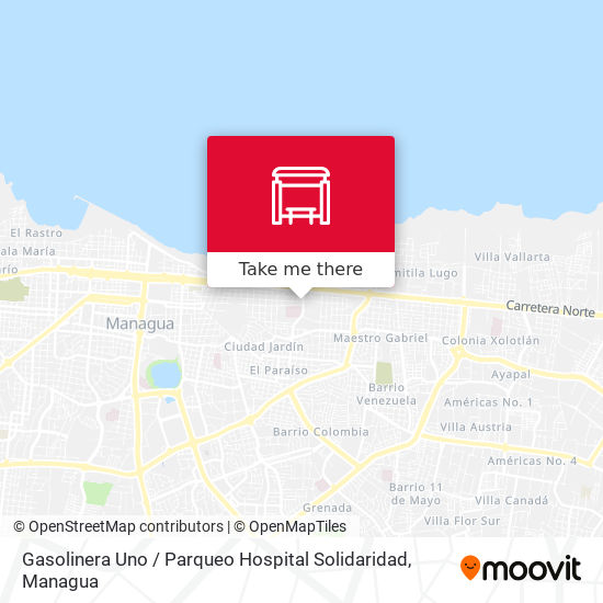 Gasolinera Uno / Parqueo Hospital Solidaridad map